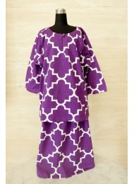 * Moroccan in royal purple baju kurung for Baby