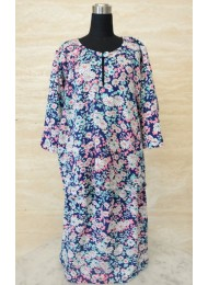 * Daisies on navy blue baju kurung for Baby