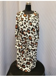 Cheetah Print Kurung KID in Brown